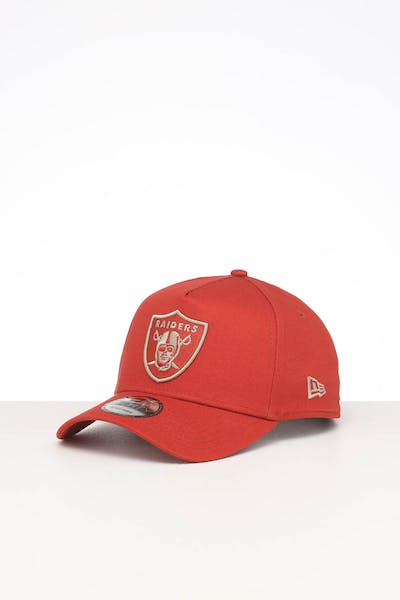 NEW ERA OAKLAND RAIDERS 9FORTY A-FRAME SEASONAL SNAPBACK BURNT ORANGE/STONE