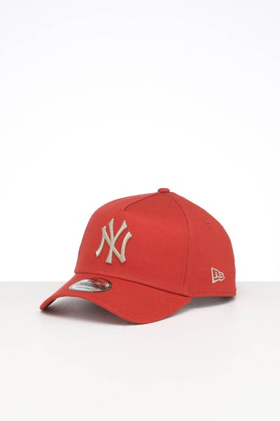 NEW ERA NEW YORK YANKEES 9FORTY A-FRAME SEASONAL SNAPBACK BURNT ORANGE/STONE