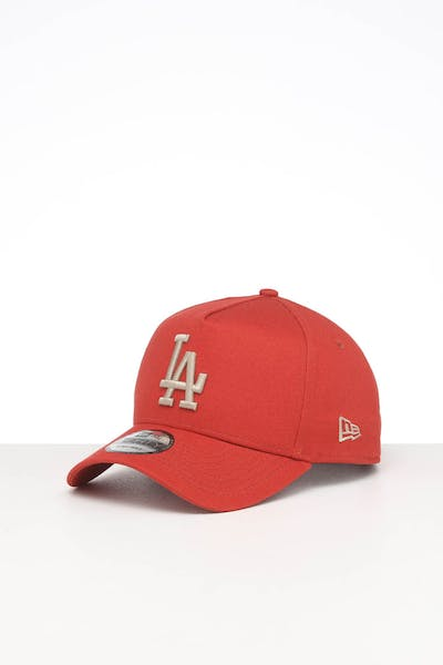 NEW ERA LOS ANGELES DODGERS 9FORTY A-FRAME SEASONAL SNAPBACK BURNT ORANGE/STONE