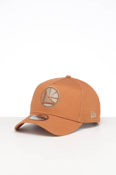 NEW ERA GOLDEN STATE WARRIORS 9FORTY A-FRAME SEASONAL SNAPBACK CARAMEL/STONE