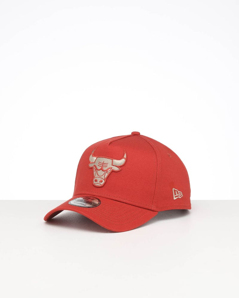 NEW ERA CHICAGO BULLS 9FORTY A-FRAME SEASONAL SNAPBACK BURNT ORANGE/STONE