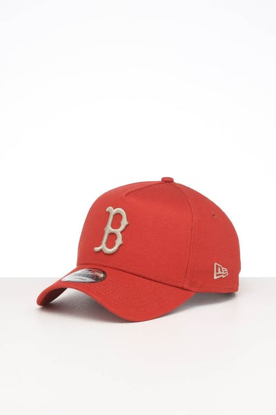 NEW ERA BOSTON RED SOX 9FORTY A-FRAME SEASONAL SNAPBACK BURNT ORANGE/STONE