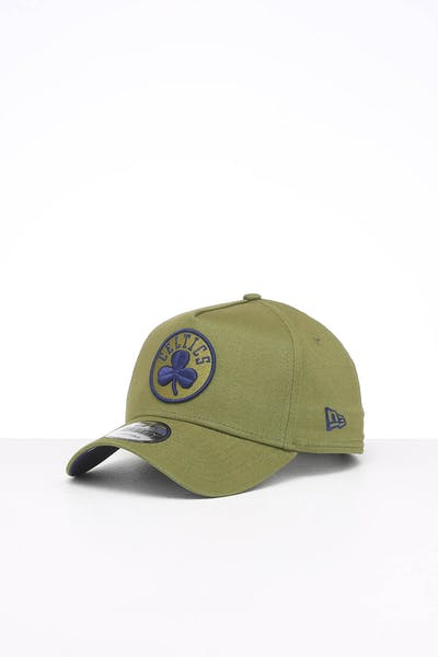 New Era Boston Celtics 9FORTY A-Frame Seasonal Snapback Moss Green/Dark Royal