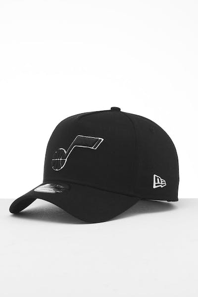 New Era Utah Jazz 9FORTY K-Frame Snapback Black/White