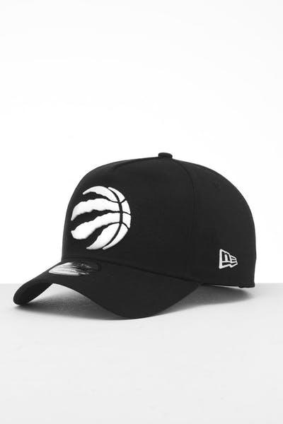 fa57002e81e New Era Toronto Raptors 9FORTY K-Frame Snapback Black/White