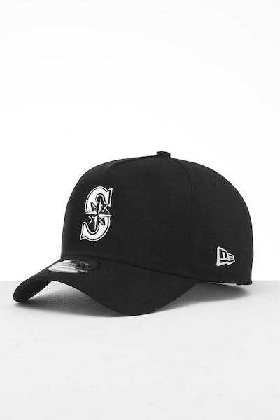 4d91e67dd7e64 New Era Seattle Mariners 9FORTY K-Frame Snapback Black White