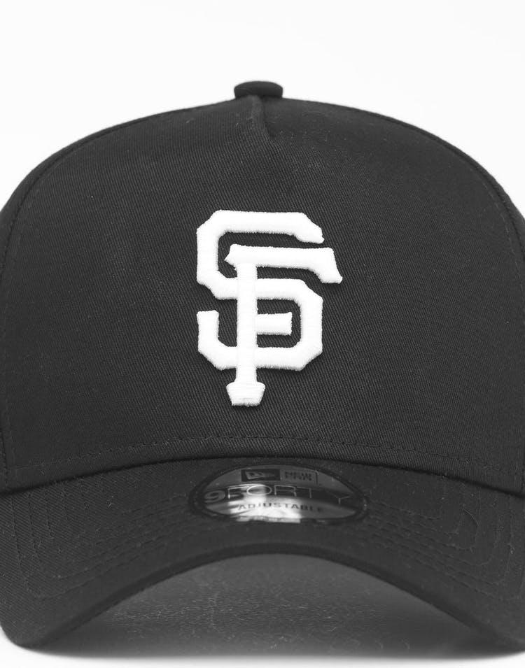 new style 3efae 96aea New Era San Francisco Giants 9FORTY K-Frame Snapback Black White