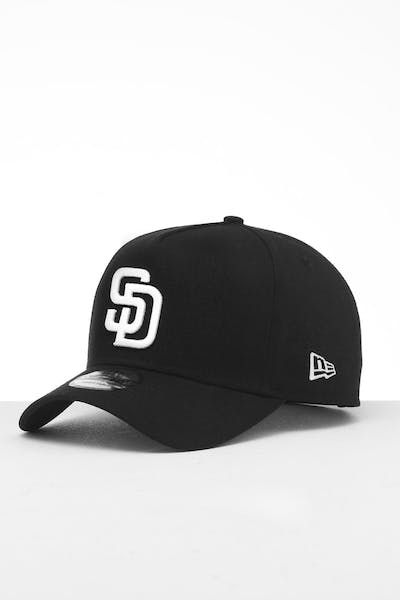 New Era San Diego Padres 9FORTY K-Frame Snapback Black/White