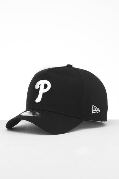 info for 9f67c 6c187 New Era Philadelphia Phillies 9FORTY K-Frame Snapback Black White
