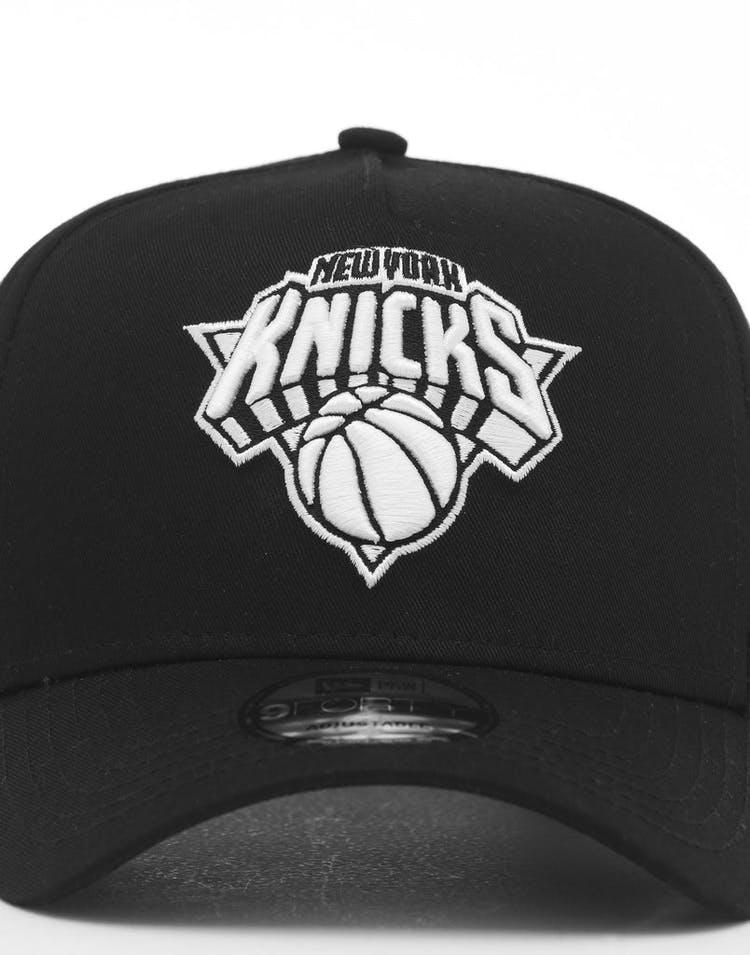 new style 98056 1570d New Era New York Knicks 9FORTY K-Frame Snapback Black White