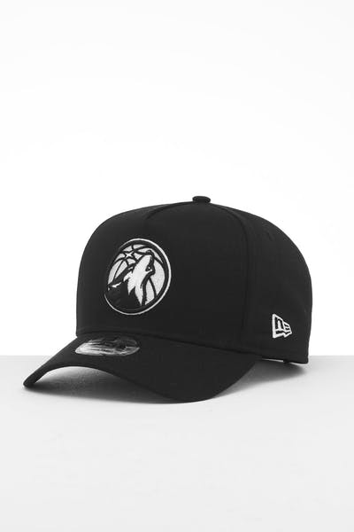 New Era Minnesota Timberwolves 9FORTY K-Frame Snapback Black/White