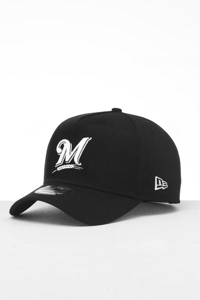 New Era Milwaukee Brewers 9FORTY K-Frame Snapback Black/White