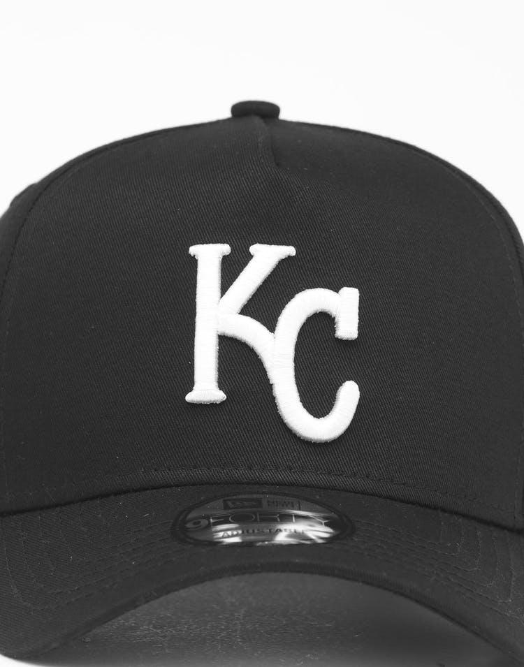 super popular 2d96a ca135 New Era Kansas City Royals 9FORTY K-Frame Snapback Black White