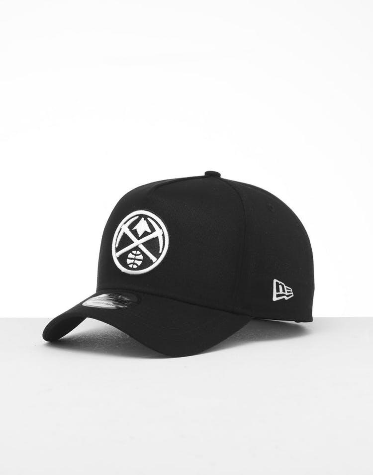 hot sale online b0ed9 8f7d1 New Era Denver Nuggets 9FORTY K-Frame Snapback Black White – Culture Kings