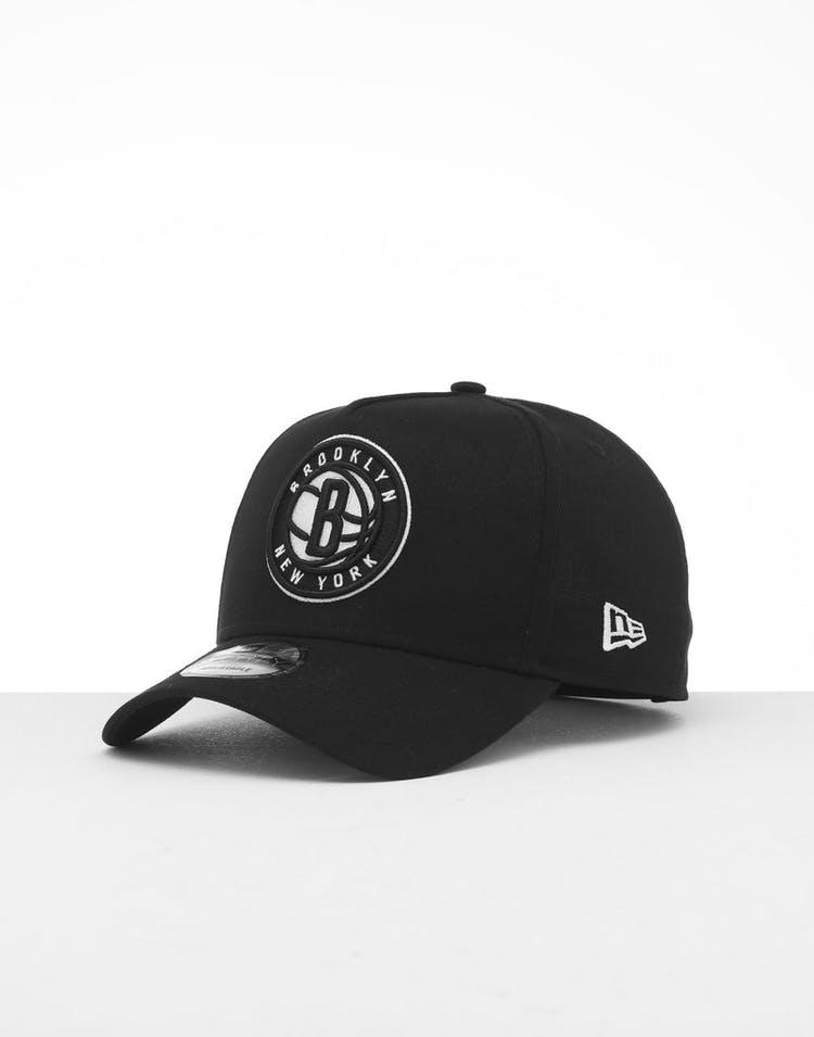 online store f8325 30fd2 New Era Brooklyn Nets 9FORTY K-Frame Snapback Black White – Culture Kings