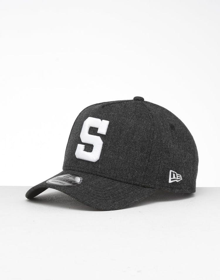 best website 509bb 96182 New Era San Diego Padres 9FORTY K-Frame Snapback Black Heather Black –  Culture Kings