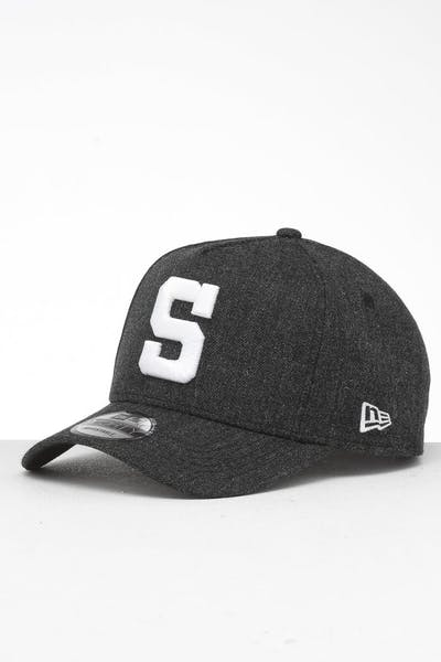 New Era San Diego Padres 9FORTY K-Frame Snapback Black Heather/Black