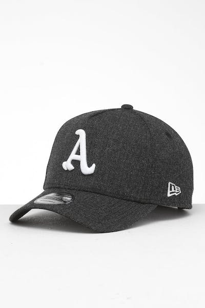check out 3a0d2 9f902 New Era Oakland Athletics 9FORTY K-Frame Snapback Black Heather Black ...