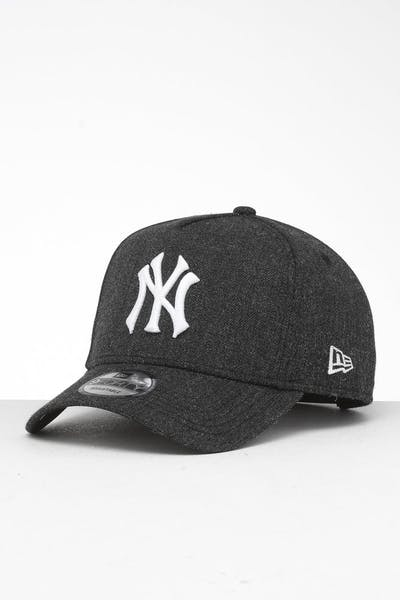 save off dbb6f fd753 New Era New York Yankees 9FORTY K-Frame Snapback Black Heather Black ...