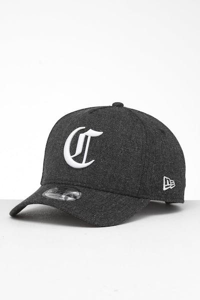 New Era Cincinnati Reds 9FORTY K-Frame Snapback Black Heather/Black