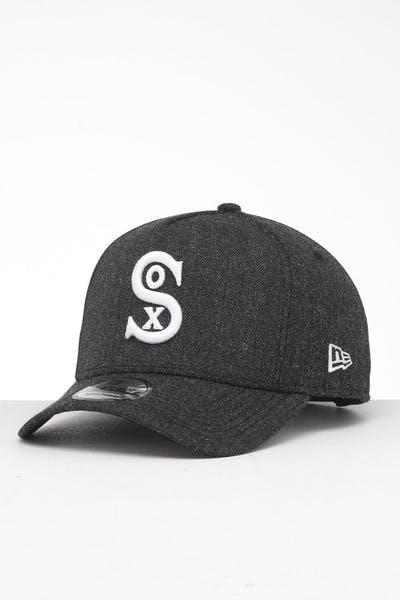f916d9699 New Era Chicago White Sox 9FORTY K-Frame Snapback Black Heather/Black ...