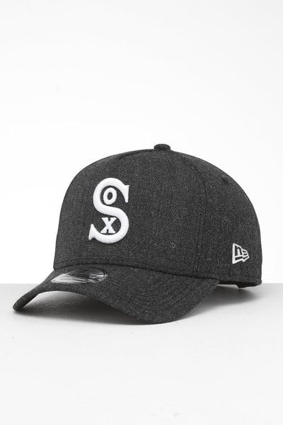newest 0e4d5 7799a New Era Chicago White Sox 9FORTY K-Frame Snapback Black Heather Black ...