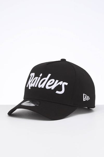 New Era Raiders 9FORTY K-Frame Team Script OTC/White Script
