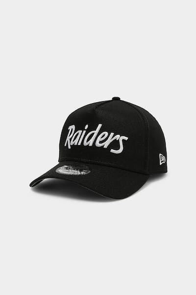 New Era Raiders 9FORTY RT A-Frame Snapback Black