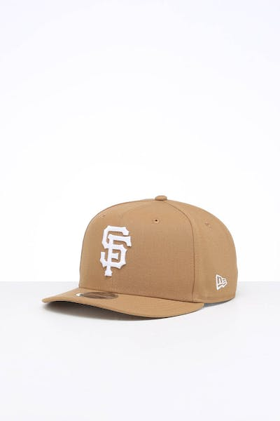 New Era San Francisco Giants 9FIFTY High Crown Precurved Snapback Wheat/White