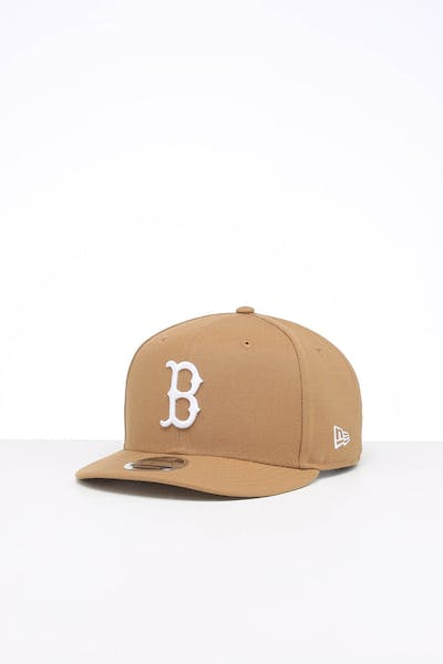 New Era Boston Red Sox 9FIFTY High Crown Precurved Snapback Wheat/White