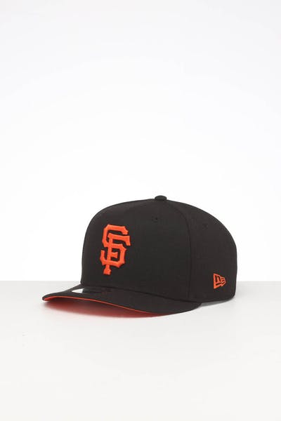 NEW ERA SAN FRANCISCO GIANTS HIGH CROWN PRECURVED TEAM OUTLINE SNAPBACK BLACK/ORANGE