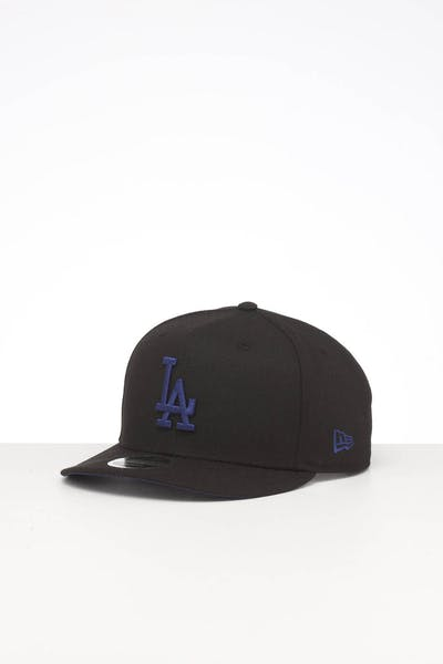 NEW ERA LOS ANGELES DODGERS HIGH CROWN PRECURVED TEAM OUTLINE SNAPBACK BLACK/BLUE
