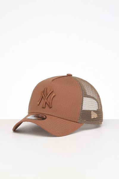 New Era New York Yankees 9FORTY A-Frame Rips Trucker Wheat