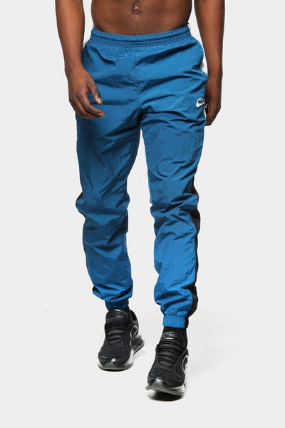 Men's Nike NSW HE Windrunner Woven Signature Pant Blue Force/Black