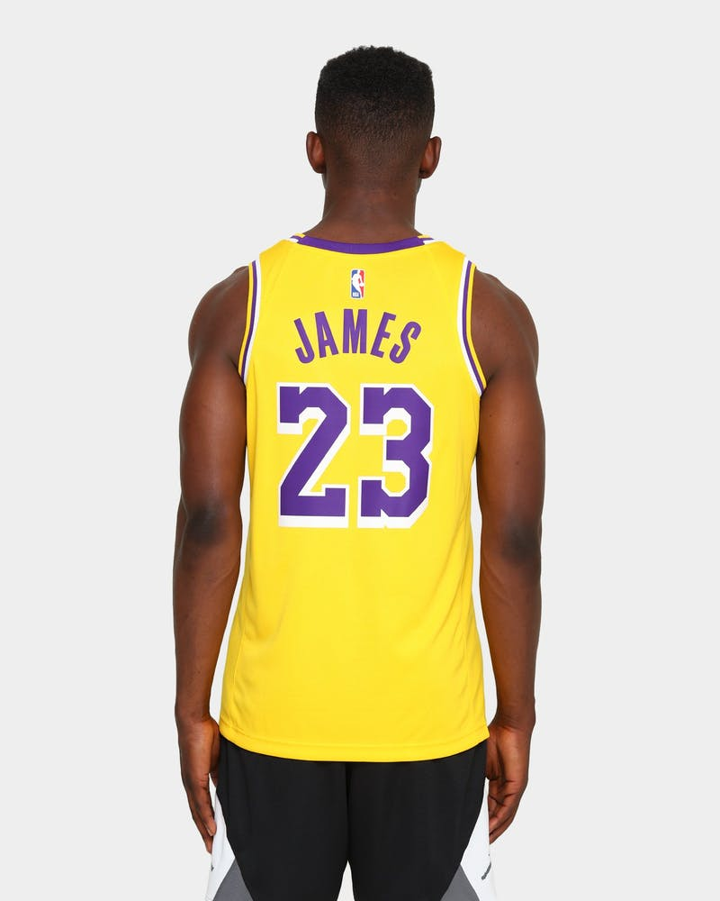 Nike LeBron James #23 Los Angeles Lakers '20 Icon Swingman Jersey Amarillo