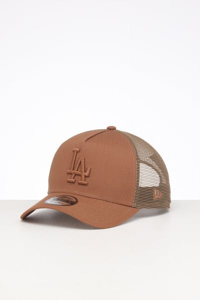 New Era Los Angeles Dodgers 9FORTY A-Frame Rips Trucker Wheat