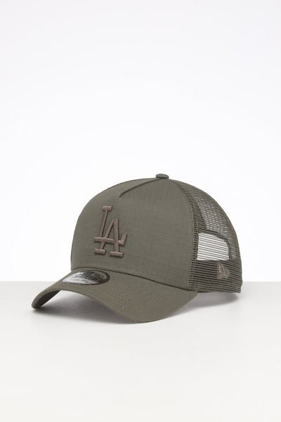 New Era Los Angeles Dodgers 9FORTY A-Frame Rips Trucker Olive