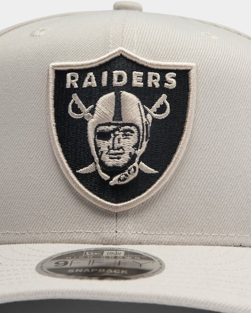 New Era Raiders 9FIFTY High Crown Precurved Snapback Stone/Black