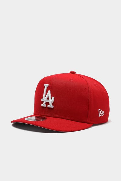 New Era Los Angeles Dodgers 9FIFTY High Crown Precurved Snapback Scarlet/White