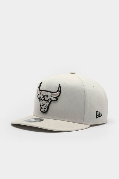 New Era Chicago Bulls 9FIFTY High Crown Precurved Snapback Stone/Black