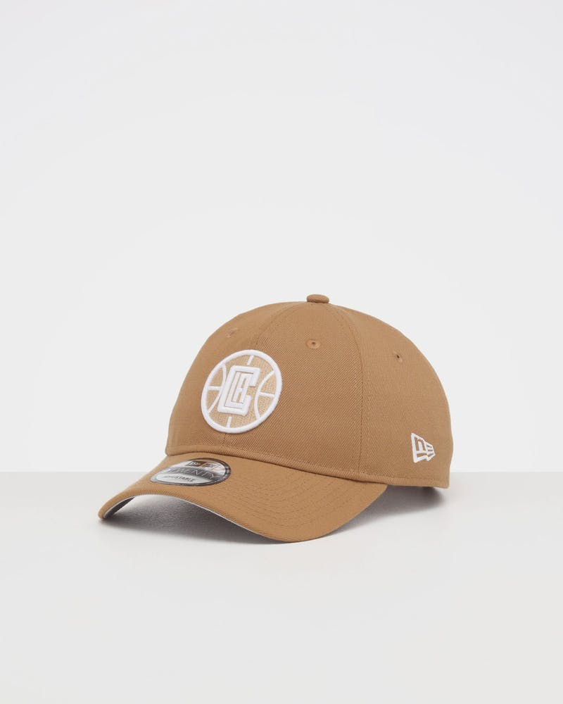 NEW ERA LOS ANGELES CLIPPERS 9TWENTY STRAPBACK WHEAT/WHITE