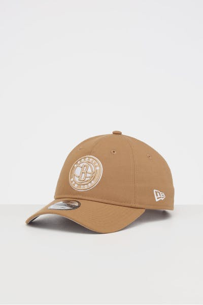 NEW ERA BROOKLYN NETS 9TWENTY STRAPBACK WHEAT/WHITE