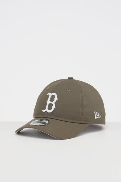 NEW ERA BOSTON RED SOX 9TWENTY STRAPBACK OLIVE/WHITE