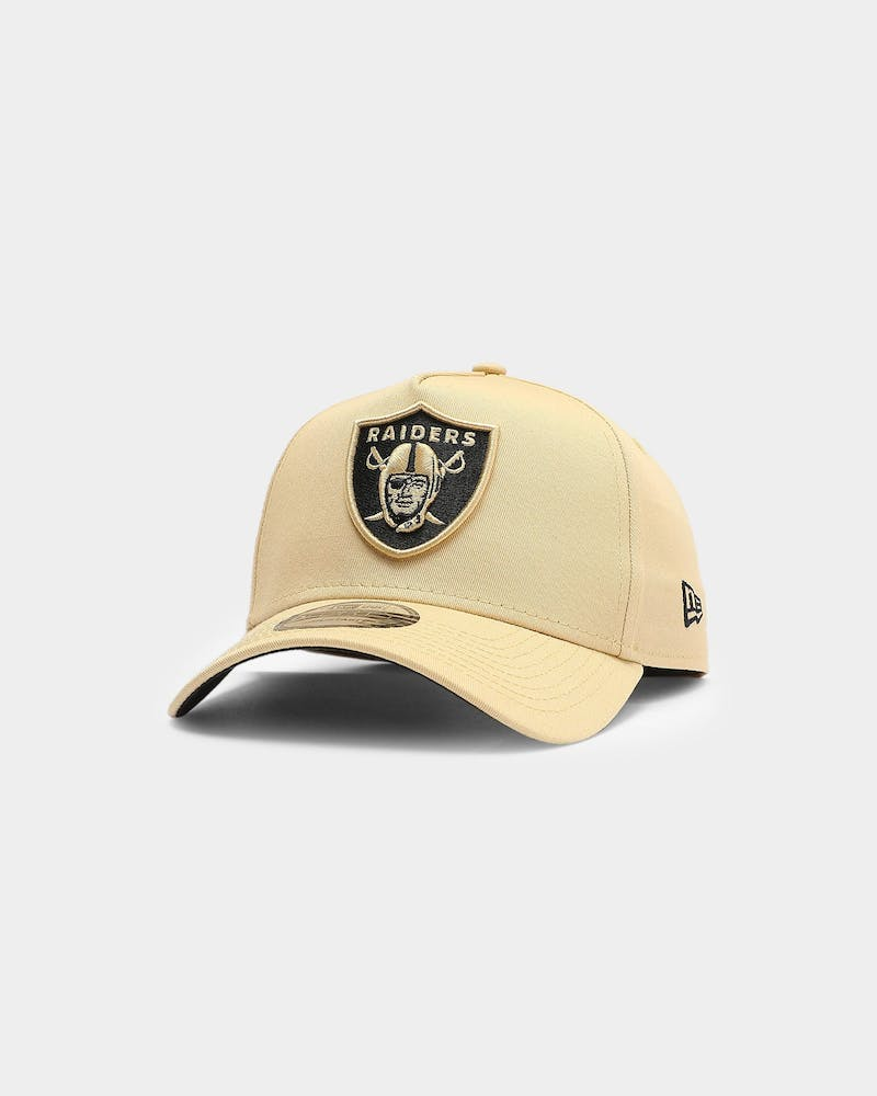 New Era Men's Raiders Vegas 9FORTY A-Frame NFL Snapback Vegas Gold