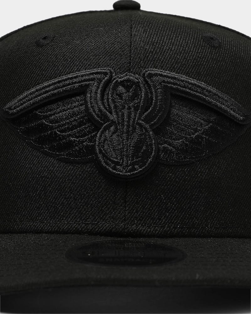 New Era New Orleans Pelicans 9FIFTY High Crown Precurved Snapback Black/Black
