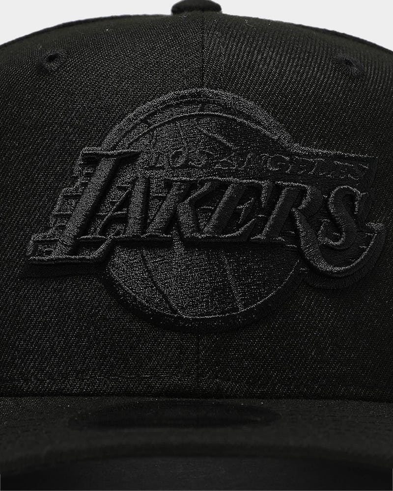New Era Los Angeles Lakers 9FIFTY High Crown Precurved Snapback Black/Black