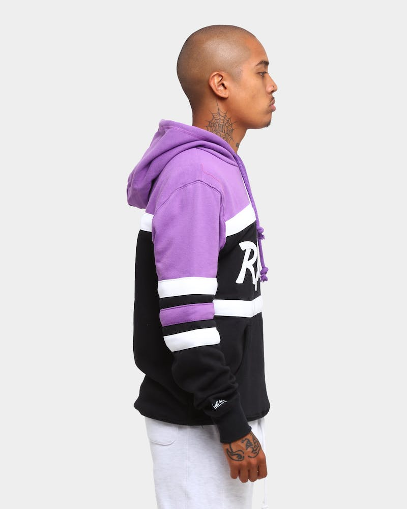 Mitchell & Ness Men's Toronto Raptors Head Coach Hoodie Black/Purple