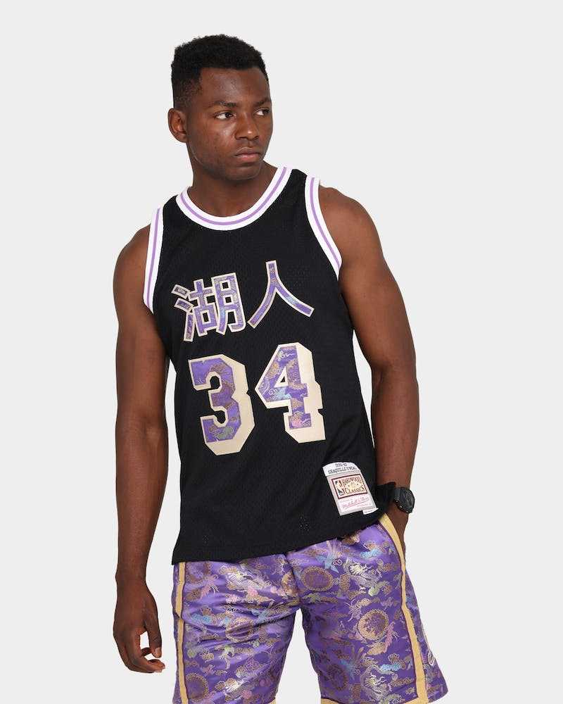 "Mitchell & Ness Shaquille O'Neal Los Angeles Lakers ""Lunar New Year"" #34 '97-'98 Swingman Jersey Black"