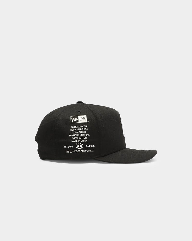 New Era New York Yankees Side Cont 9FIFTY High Crown Precurved Snapback Black/White