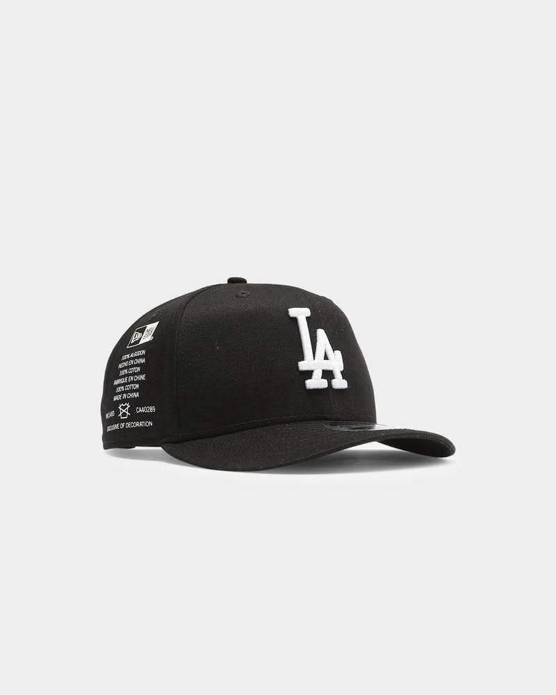 New Era Los Angeles Dodgers Side Cont 9FIFTY High Crown Precurved Snapback Black/White